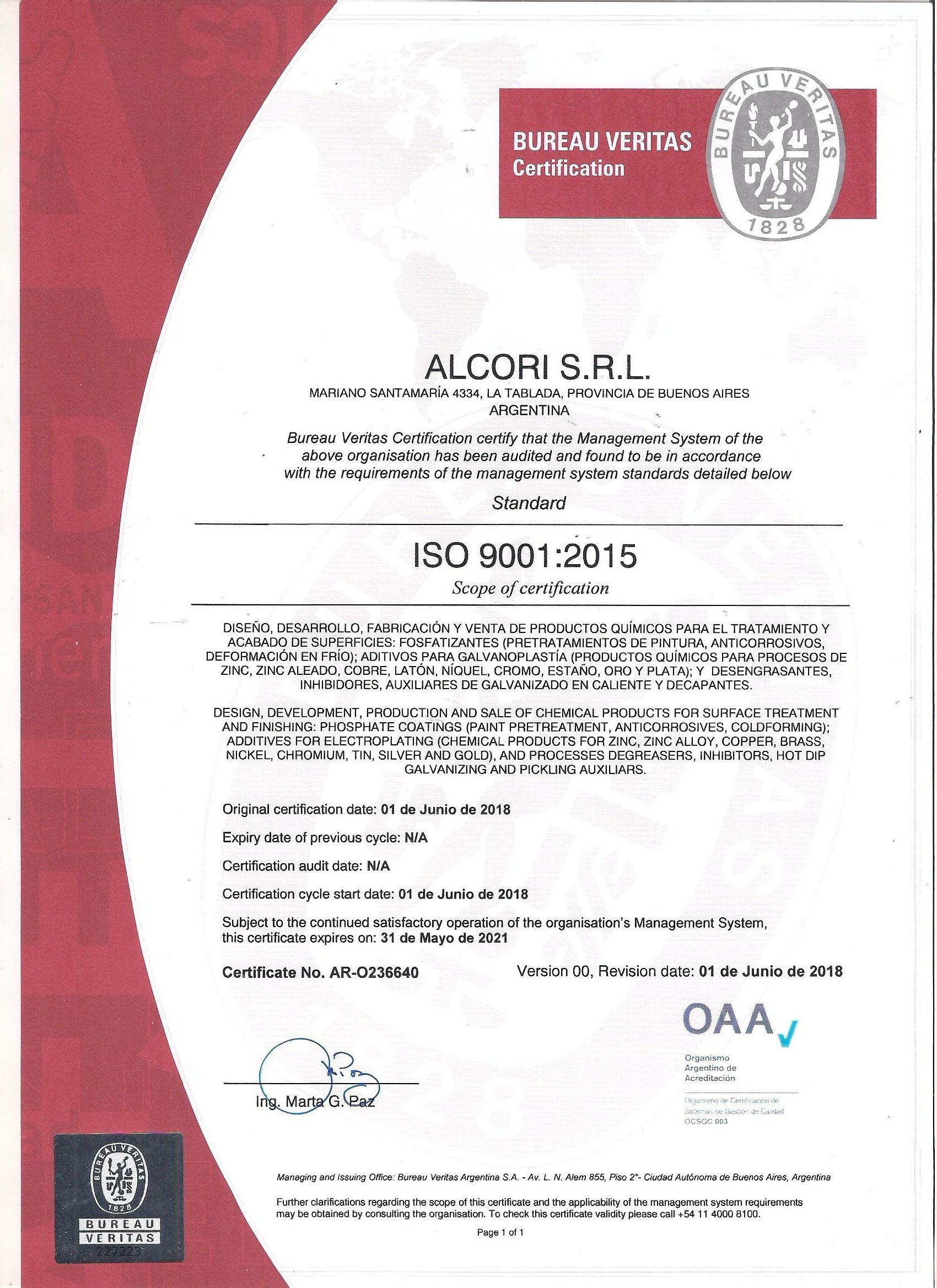 ISO 9000 2015 2018-2021